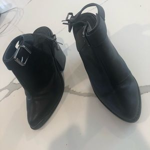 Black booties • size 5 • closed toe, open back